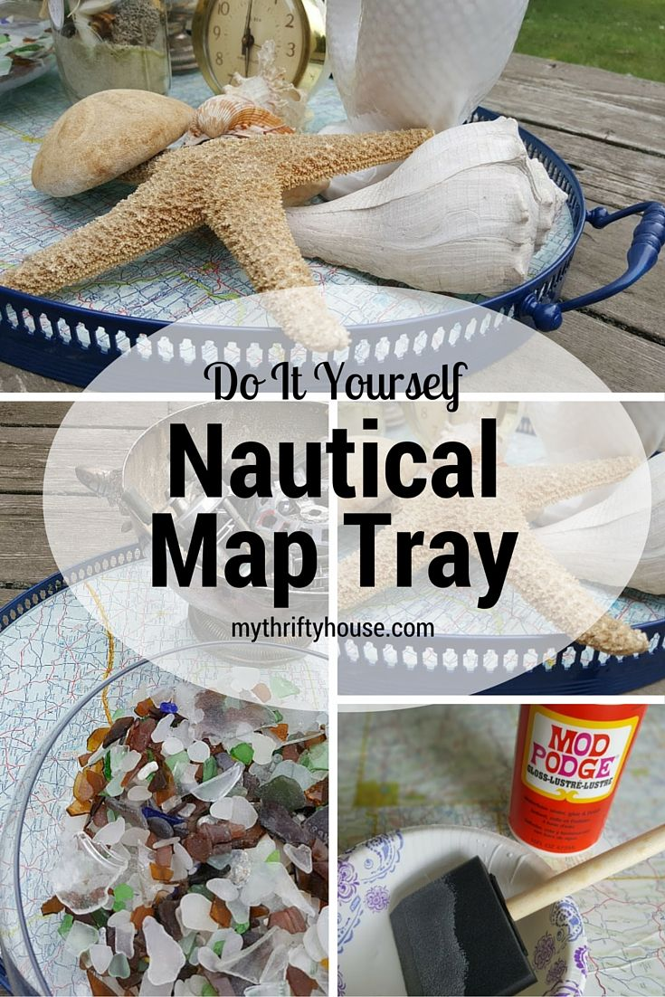 Nautical map tray made from trash vintage maps bar carts and do it yourself nautical map tray this nautical map tray literally came together within an solutioingenieria Image collections