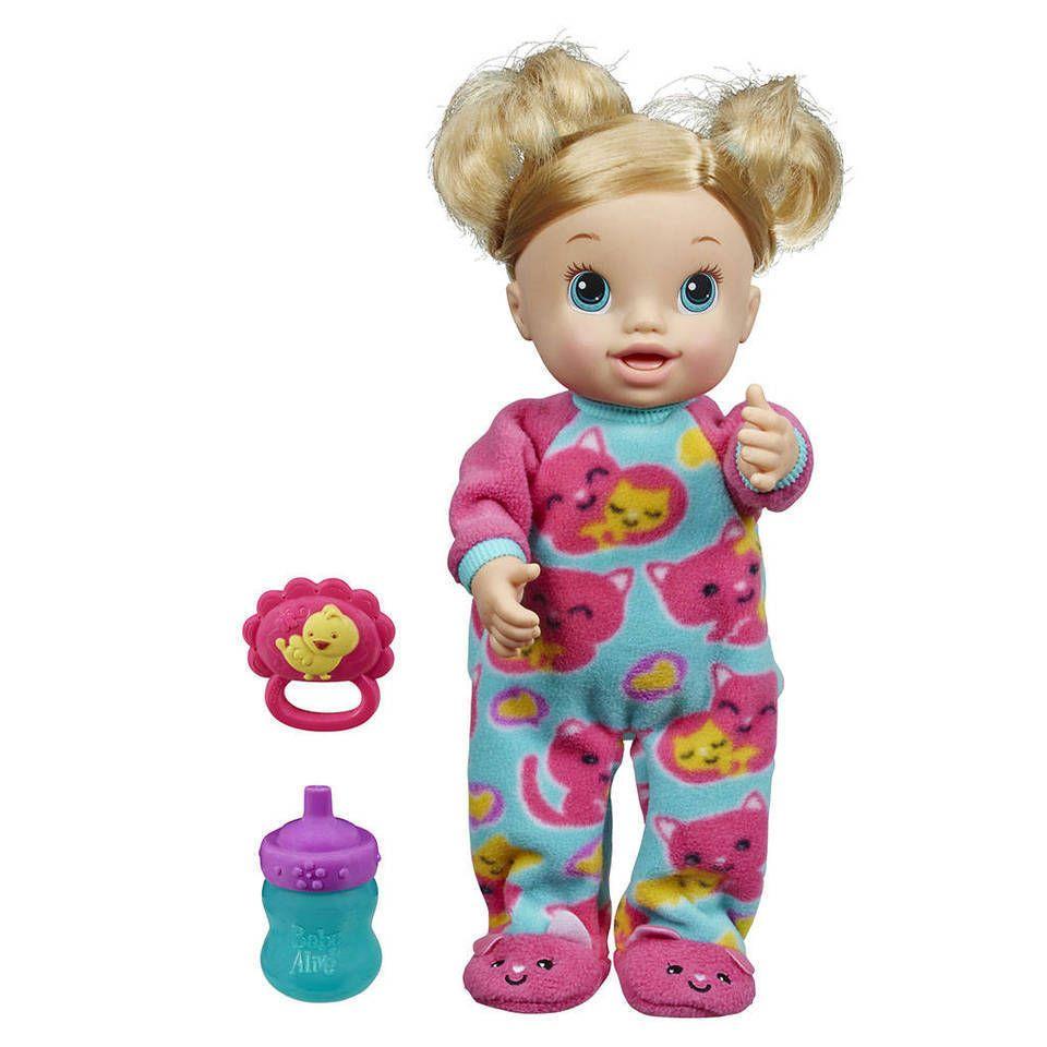 Baby Alive Tickles N Cuddles Doll Blonde Hair Hasbro Nib Baby Alive Dolls Baby Alive Doll Clothes Baby Doll Diaper Bag