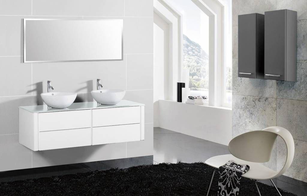 doppelwaschtisch mit aufsatzwaschbecken badezimmerm bel badm bel badm belset m. Black Bedroom Furniture Sets. Home Design Ideas