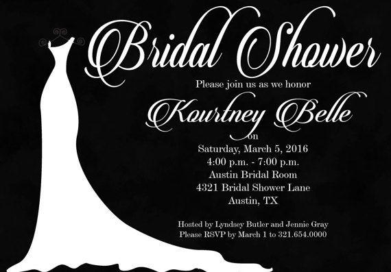 Chalkboard Bridal Shower Invitation Bridal Shower by InvitesToYou