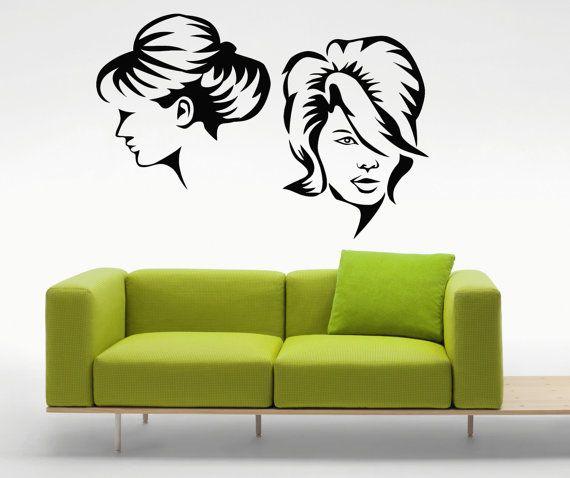 Beauty Salon Stickers Barbershop Wall Vinyl Decals Home Interior ...