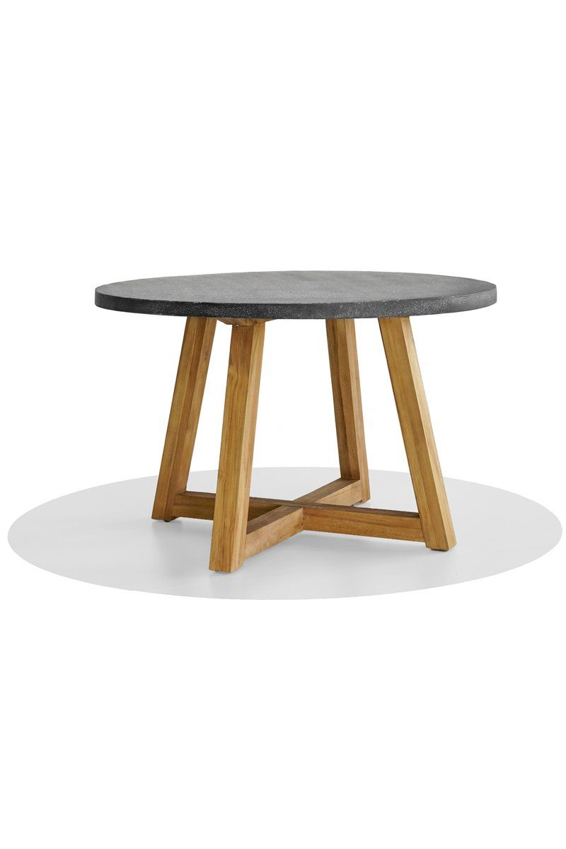Flinders Round Dining Table Round Concrete Dining Table Round Outdoor Dining Table Concrete Dining Table [ 1200 x 800 Pixel ]