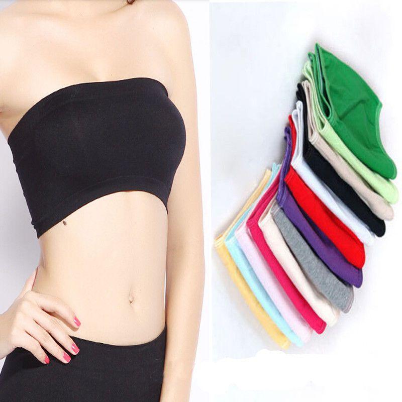 3ab9c07f9ea41  1.13 - White Skin Black Ladies Strapless Crop Top Vest Bra Bandeau Boob  Tube Brassiere  ebay  Fashion