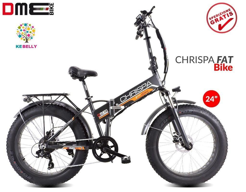 Bicicletta Elettrica Pedalata Assistita Pieghevole Dme Fat Bike 24