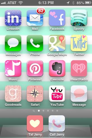 Pimped my iPhone home screen with CoCoPPa from the App