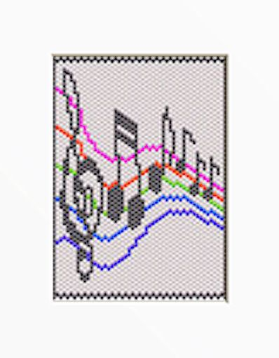 MUSICAL NOTES PONY BEAD BANNER PDF PATTERN ONLY