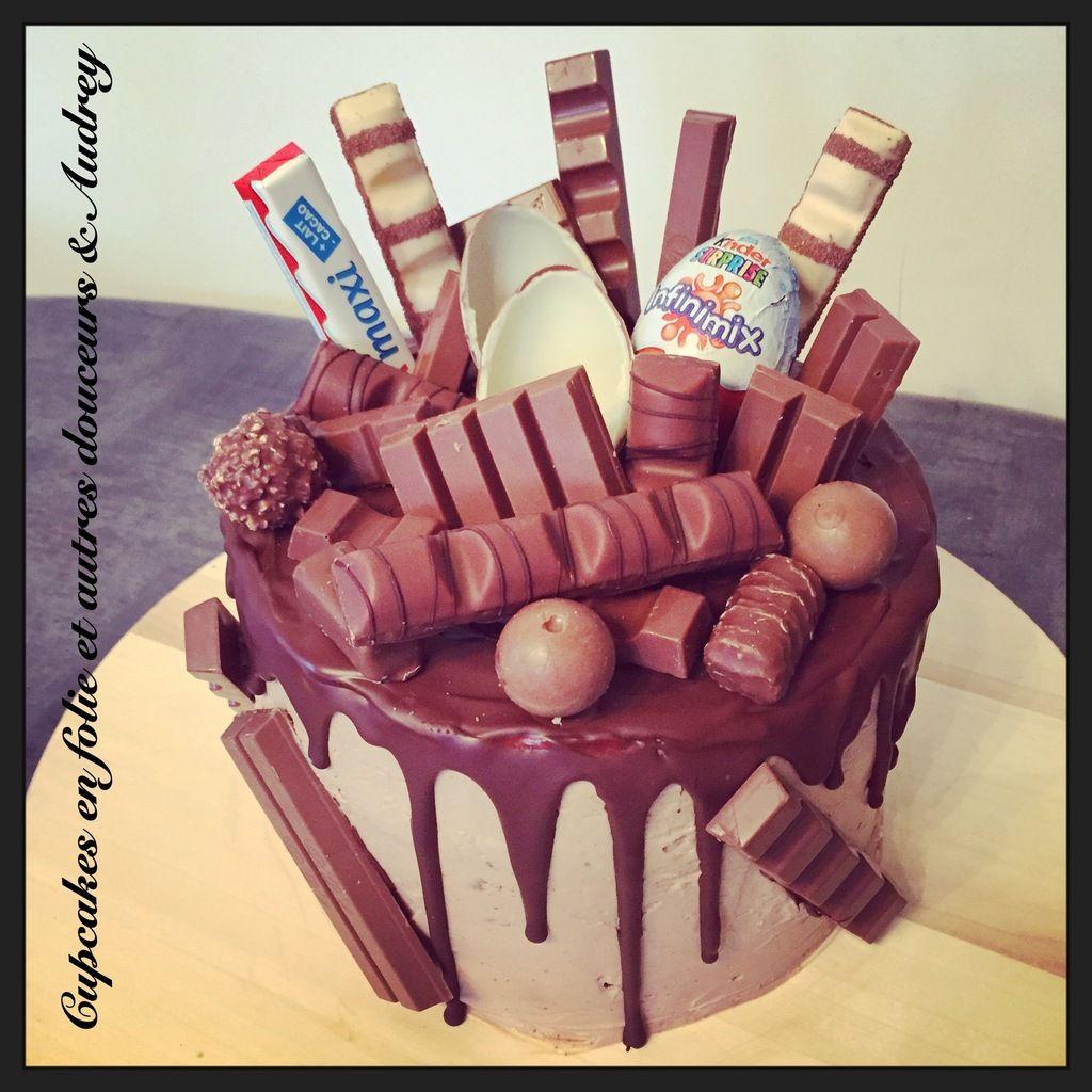 Super Aujourd'hui je vous propose la recette d'un gâteau Kinder que nous  HI16