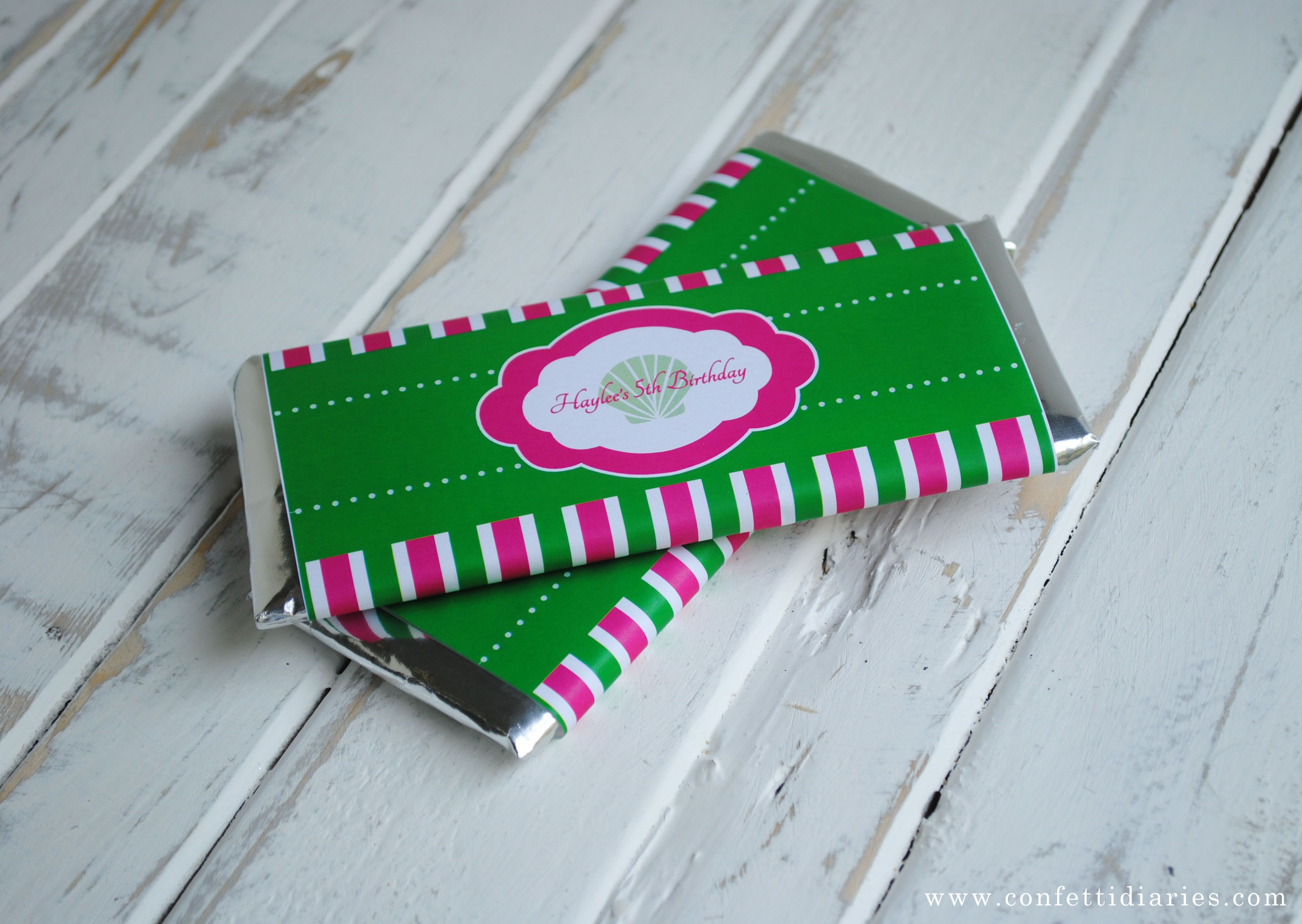After designing many new party collections for Katarina's Paperie during the last few months, my favorite item to create is the chocolate bar wrapper. Maybe its because I'm a chocolate fiend, but m...