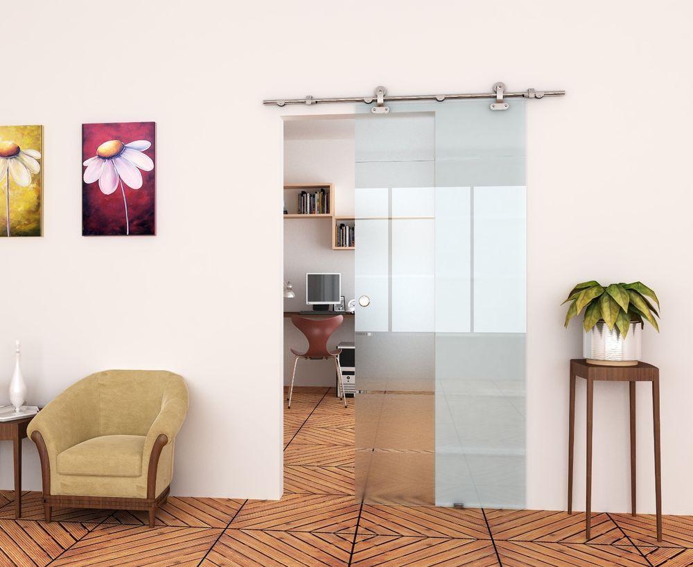 7 FT - European Stainless Steel Barn Door Hardware for Glass Doors ...