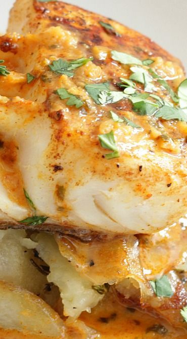 Halibut with Thai Red Sauce