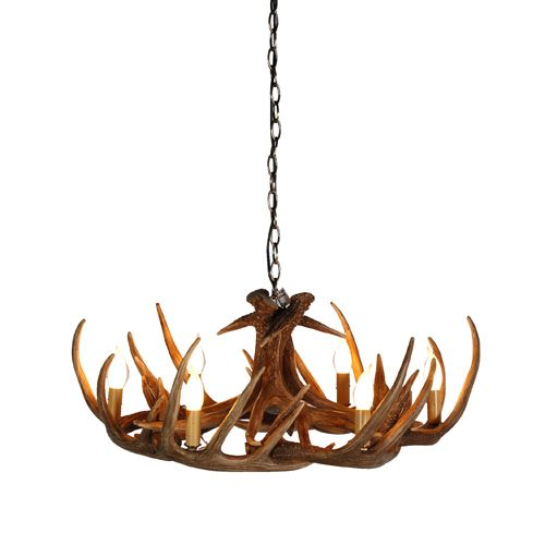 Spiky antler wide chandelier lighting pinterest antlers spiky antler wide chandelier mozeypictures Image collections