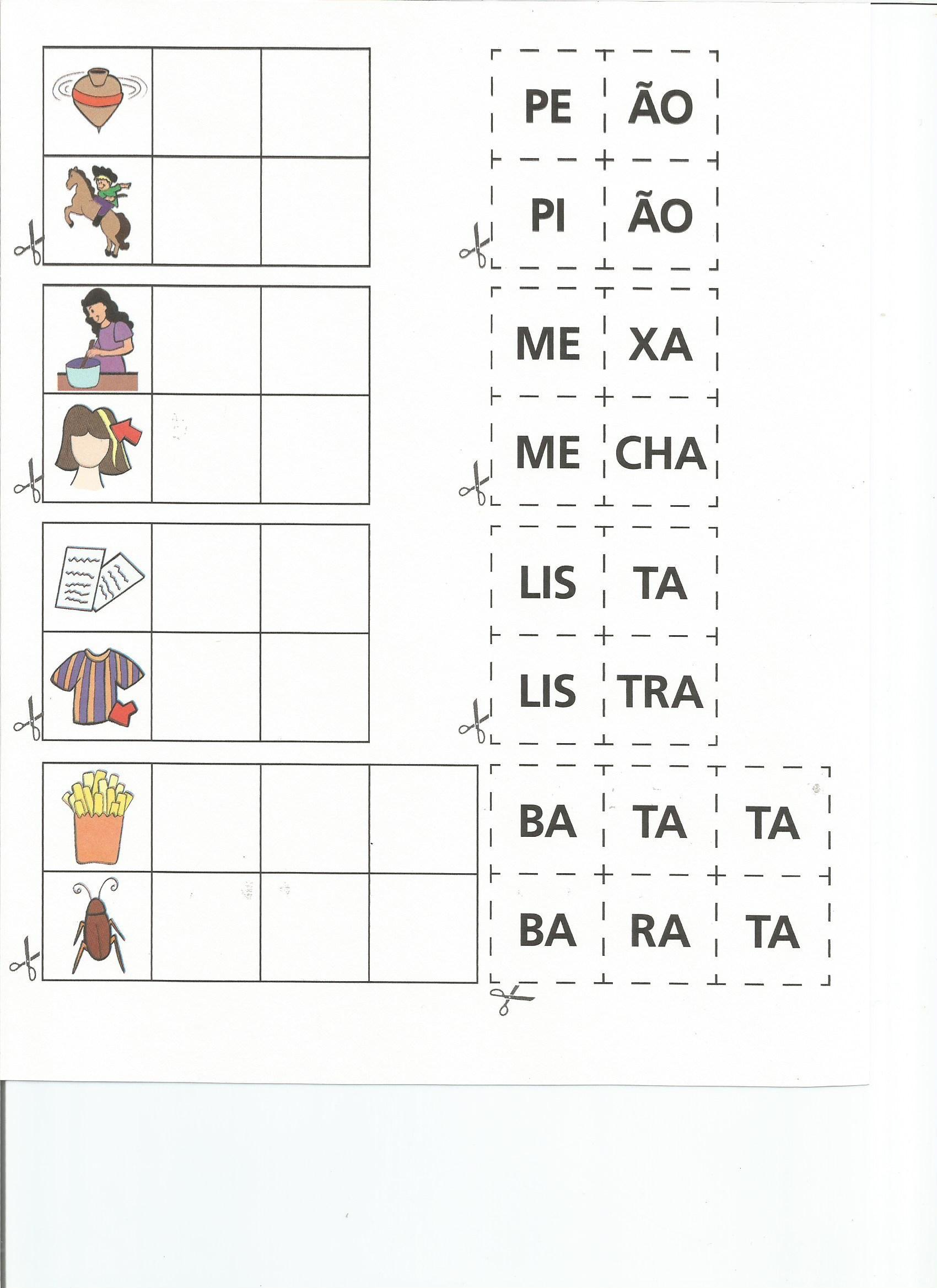 Montagem De Palavras Educação Infantil Pinterest