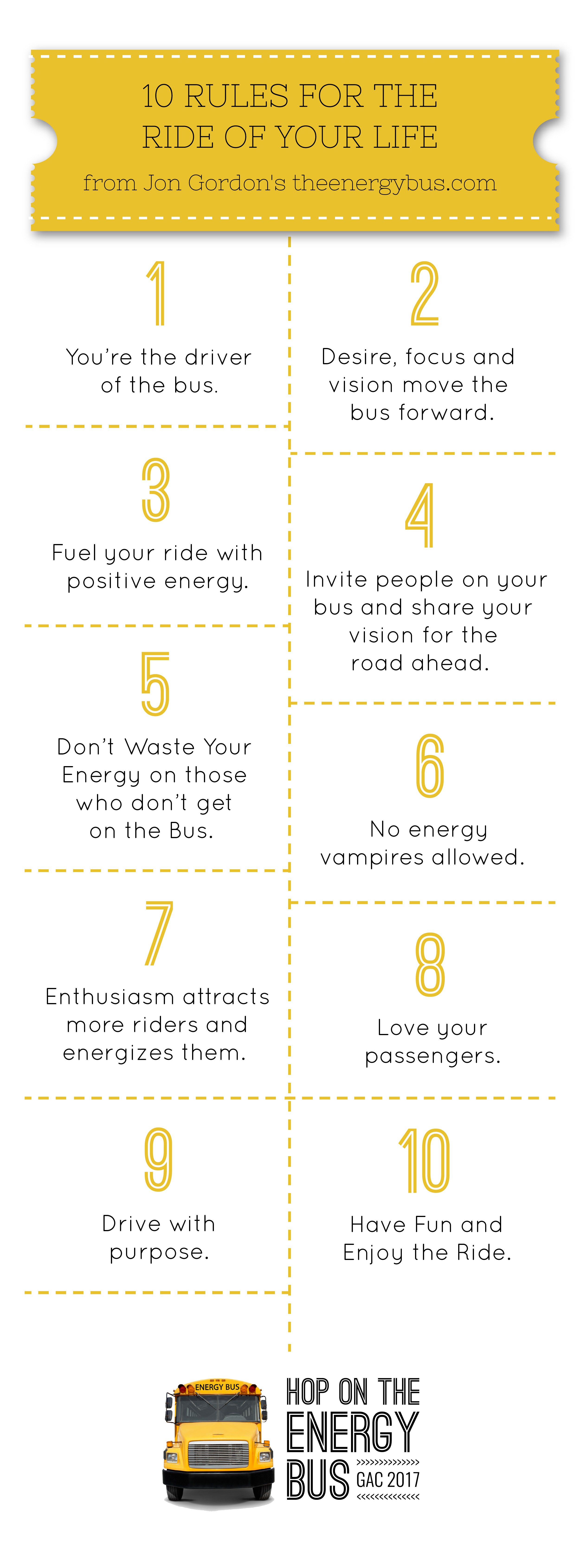 10 Rules For The Ride Of Your Life