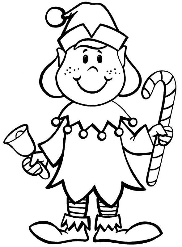 Christmas Elf Coloring Pages | Printable christmas ...