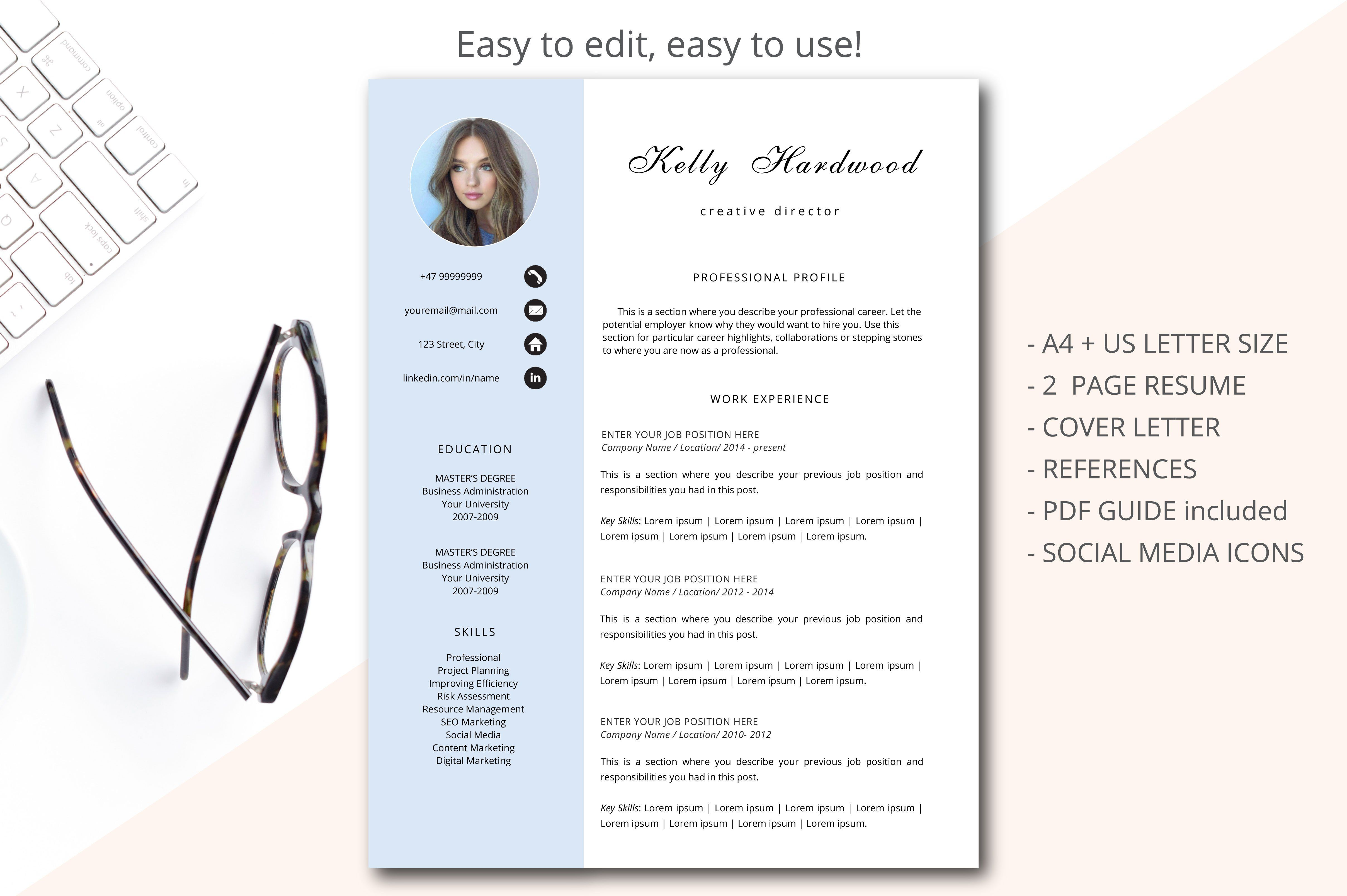 Creative director resume template by annakristal on