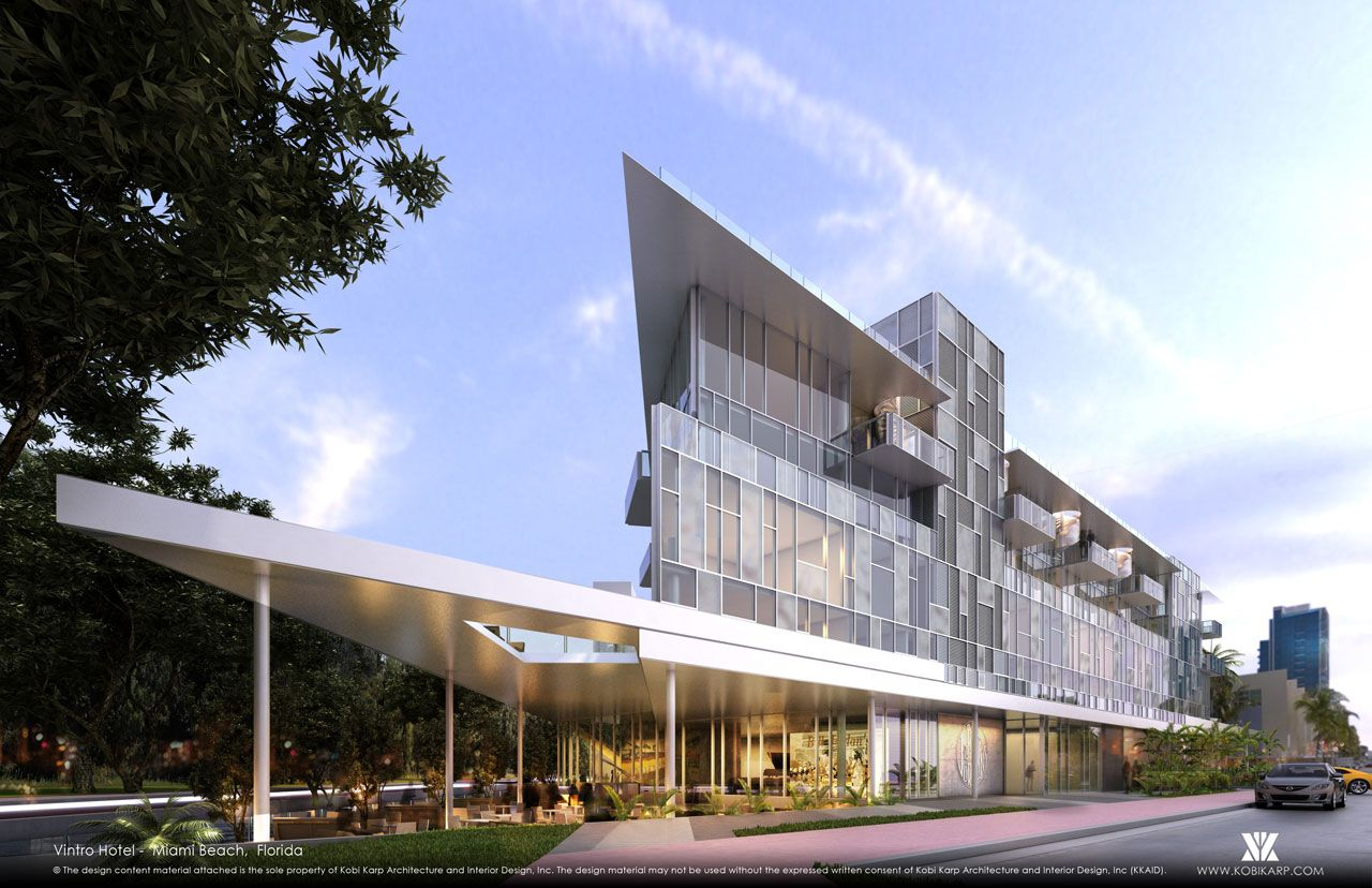 VINTRO HOTEL AND RESIDENCES designed by #KobiKarp.   #architecture #design #miamicondos #miamirealestate #unique #innovativedesign #buildings #architects