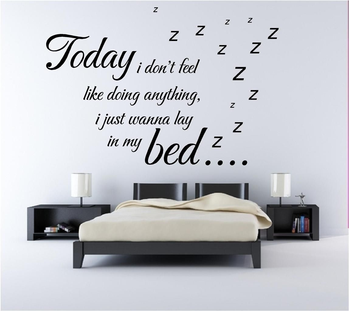 creative wall sticker for modern bedrooms - Give a touch of ...