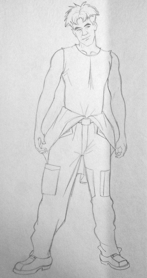 Film: Titan AE =====  Character: Cale (Design #1) =====  Costume Design Final
