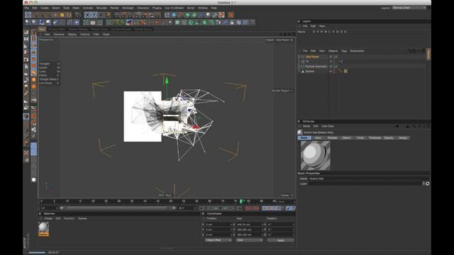 Cinema 4D tutorial 21.5: Using Ubertracer with thinking particles and the toon shader by Sam Welker. Original tutorial: https://vimeo.com/38524255