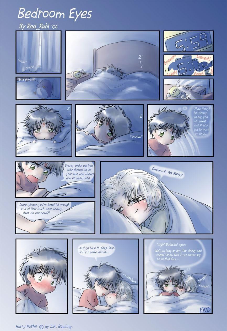 Drarry Fan Art Bedroom Eyes Harry Potter Fanfiction Harry Potter Anime Draco Harry Potter