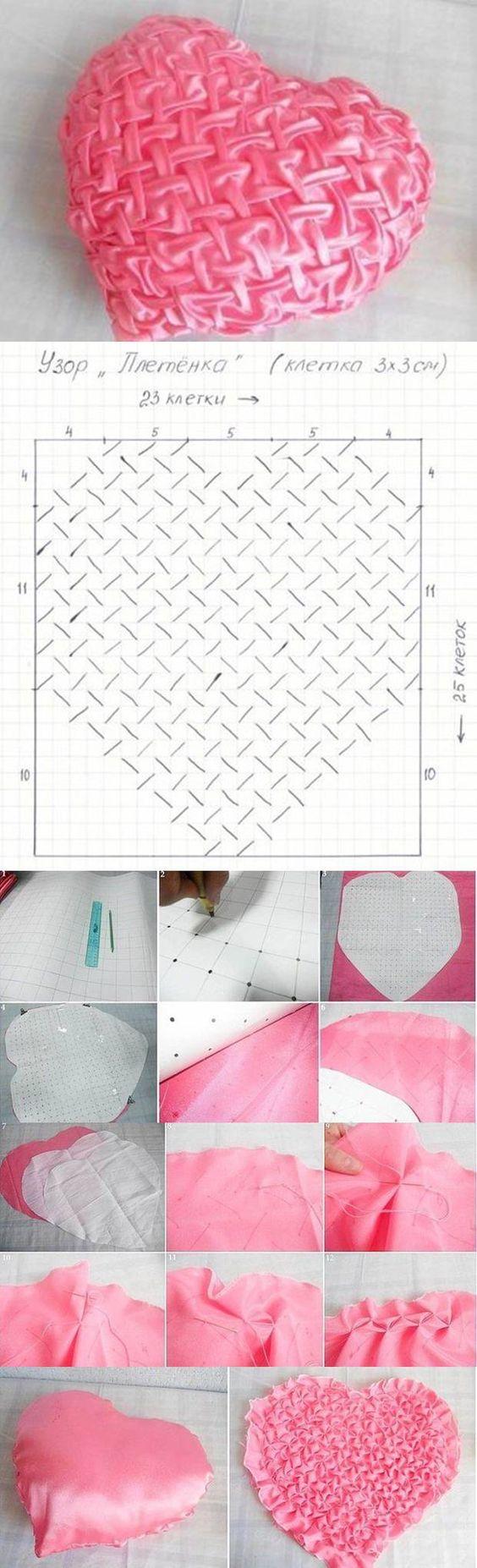 DIY Pillow-heart Puffed: