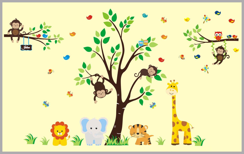 Stunning Jungle Nursery Wall Art Gallery - The Wall Art Decorations ...