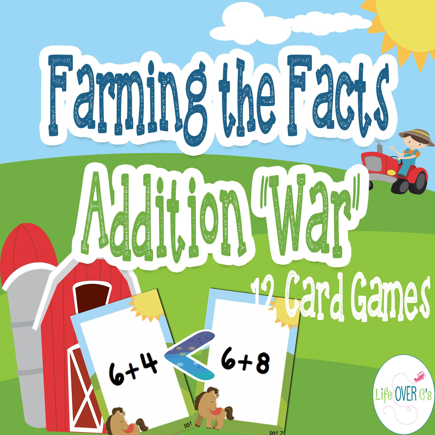 Addition Facts 1 10 War Card Games And Printables
