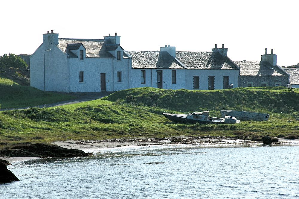 Row of houses in Port Ellen, Isle of Islay