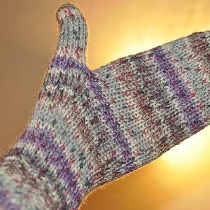 Photo of Handschuhe Basis * Fäustlinge in Sockenwolle 6-fach   Stricken und Häkeln mit eliZZZa