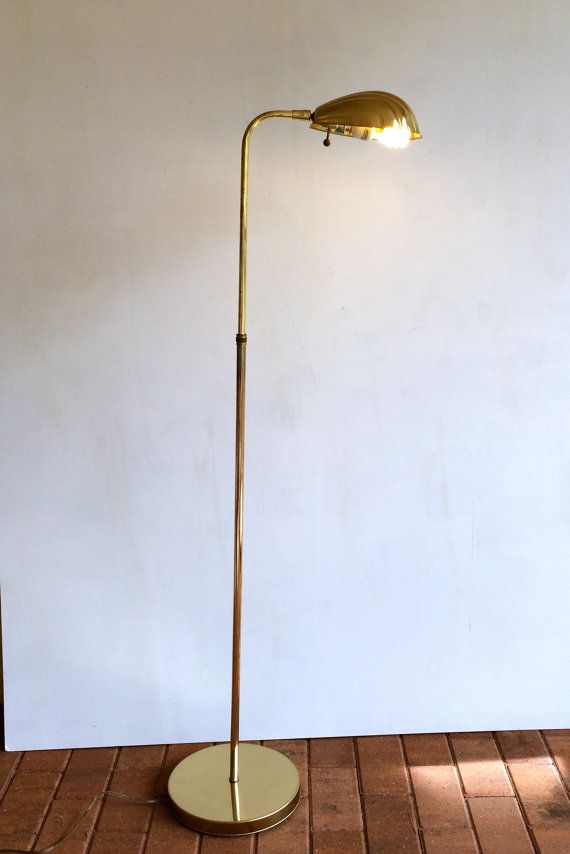 Vintage Brass Floor Lamp Shell Shaped By Amysvintagedecorium 165 00 Brass Floor Lamp Lamp Vintage Lamps