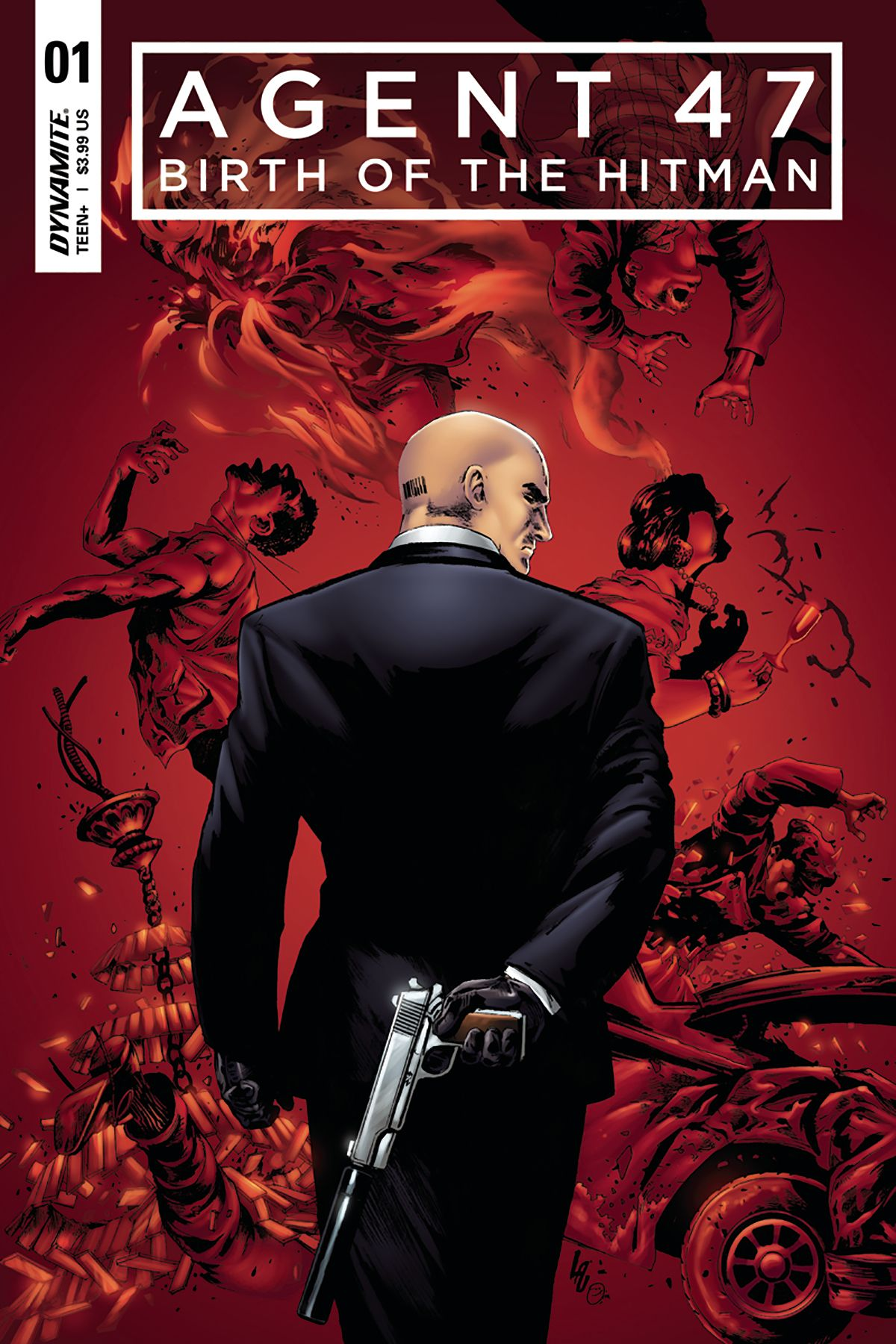 Book Cover Art Zip : Agent birth of hitman cvr b lau other comic book