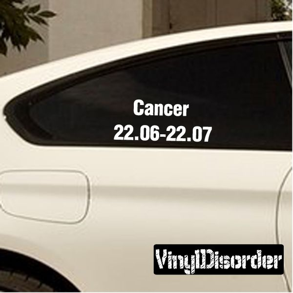 Cancer wall decal vinyl decal car decal zodiac al001