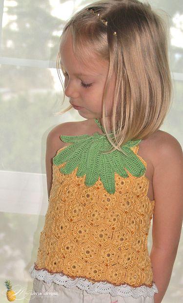 PDF Crochet Pattern Pineapple Top Sz 2-12