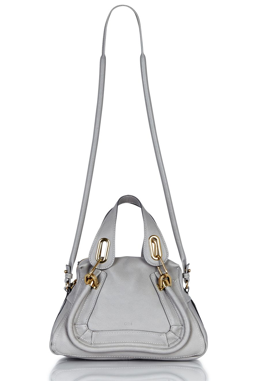 Paraty Small Shoulder Bag   CHLOE   CASHMERE GREY