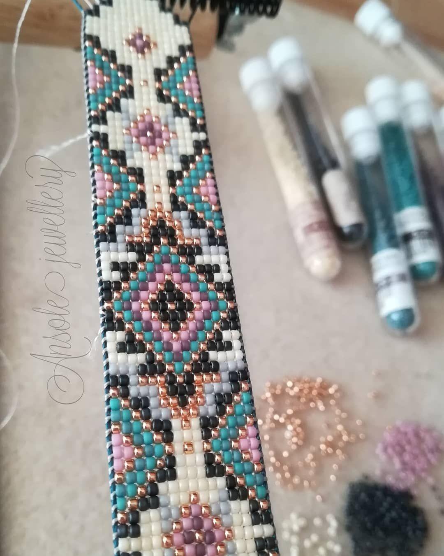 Ansole jewellery #loombracelet #beadloom #bransoletkatkana #nakrosnie #krosno #bizuteria #jewellery #jewelry #nativeamerican #bohostyle #bohemian #bohoelegance #ansolejewellery #toho15