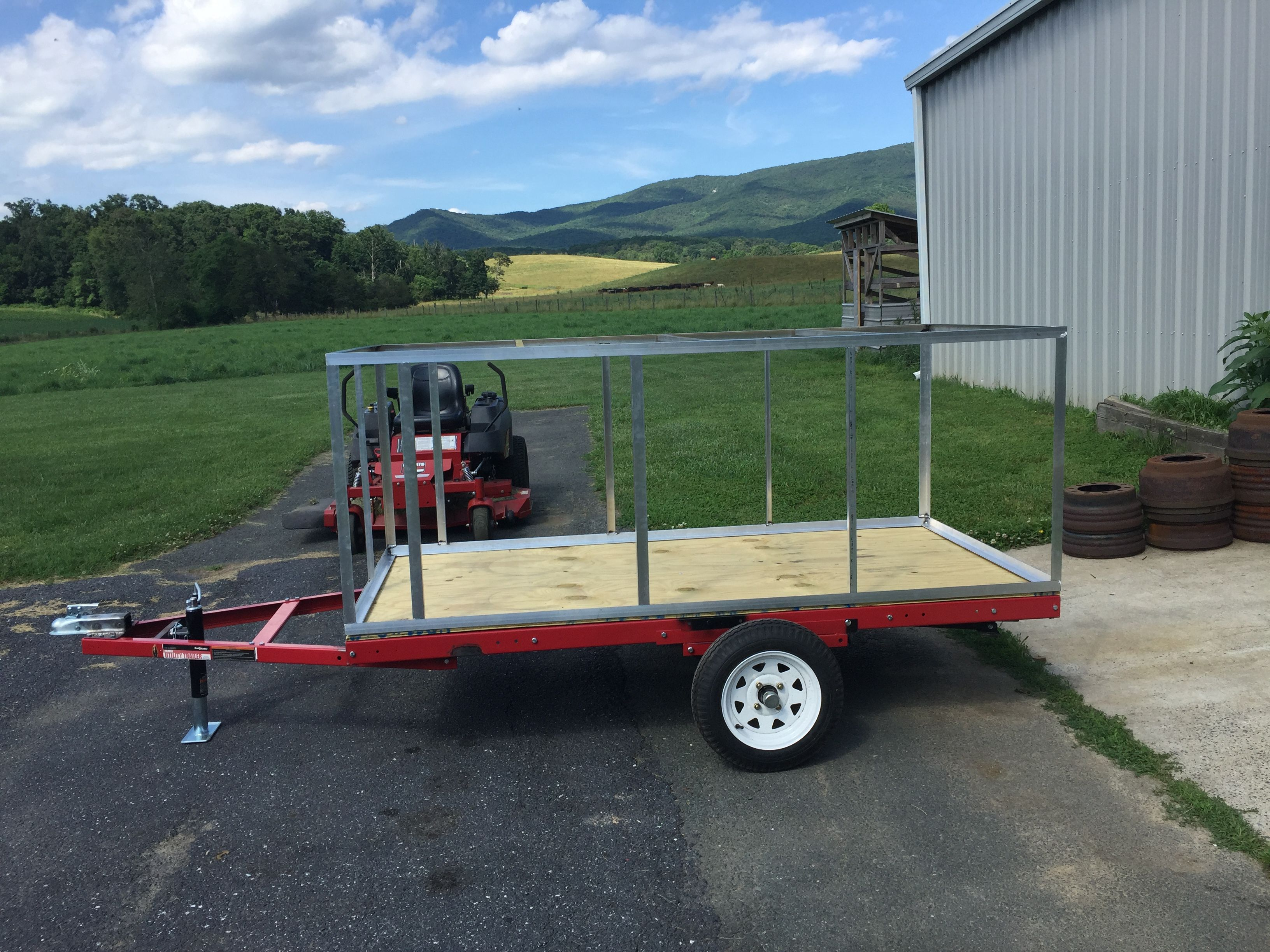 Frame finished. | Explorer box trailer build | Pinterest | Box trailer