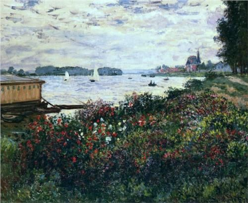 Riverbank at Argenteuil - Claude Monet