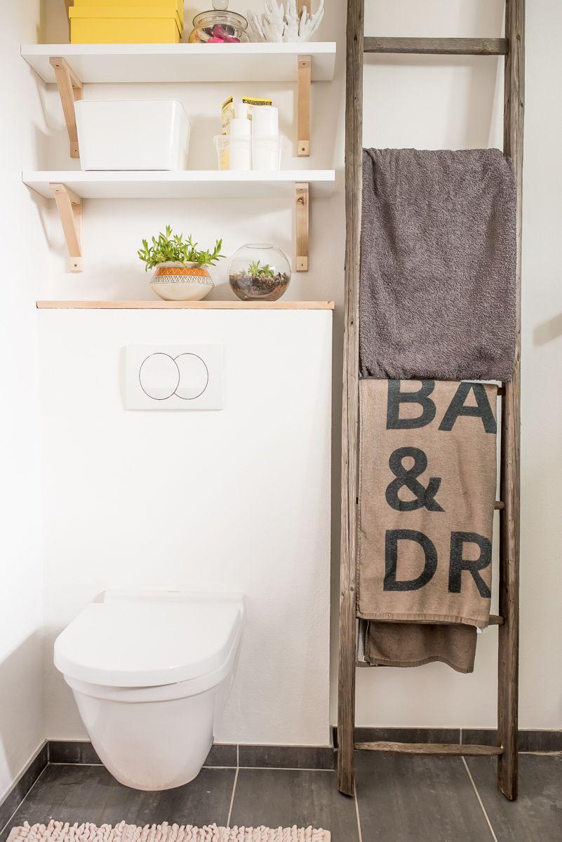 diy ideen für ein badezimmer im industrie look mit altem holz, Badezimmer