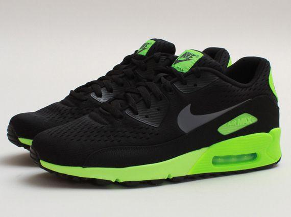 Nike Air Max 90 Engineered Mesh (EM) Mens Black Flash Lime