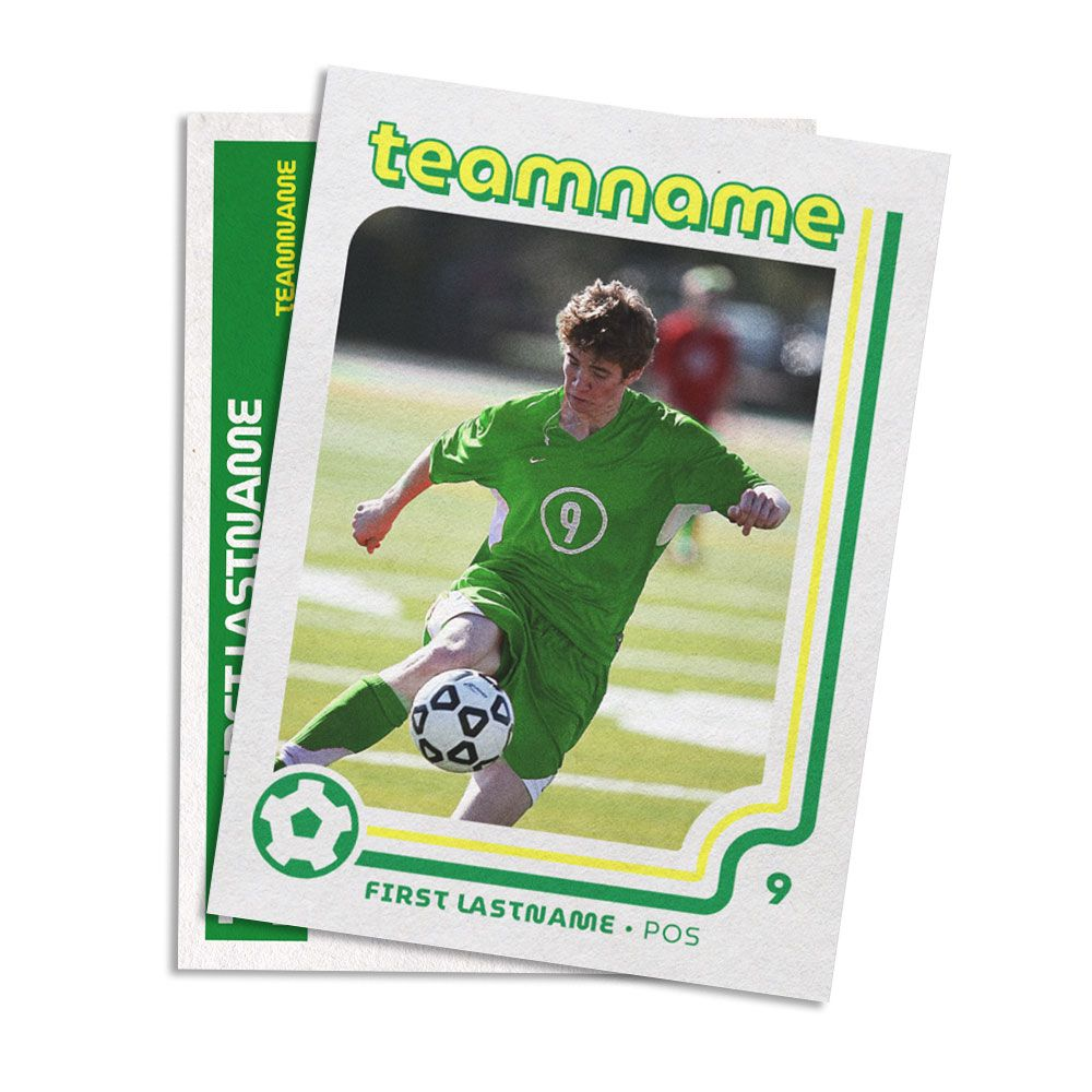 Retro Soccer Card Template Soccer Cards Trading Card Template Cards
