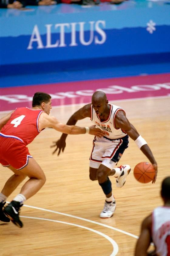 best service 359c2 43e39 At the 1992 Olympics in Barcelona, the Dream Team, America s basketball  superstars including Magic Johnson and Michael Jordan, won gold with an  array of ...