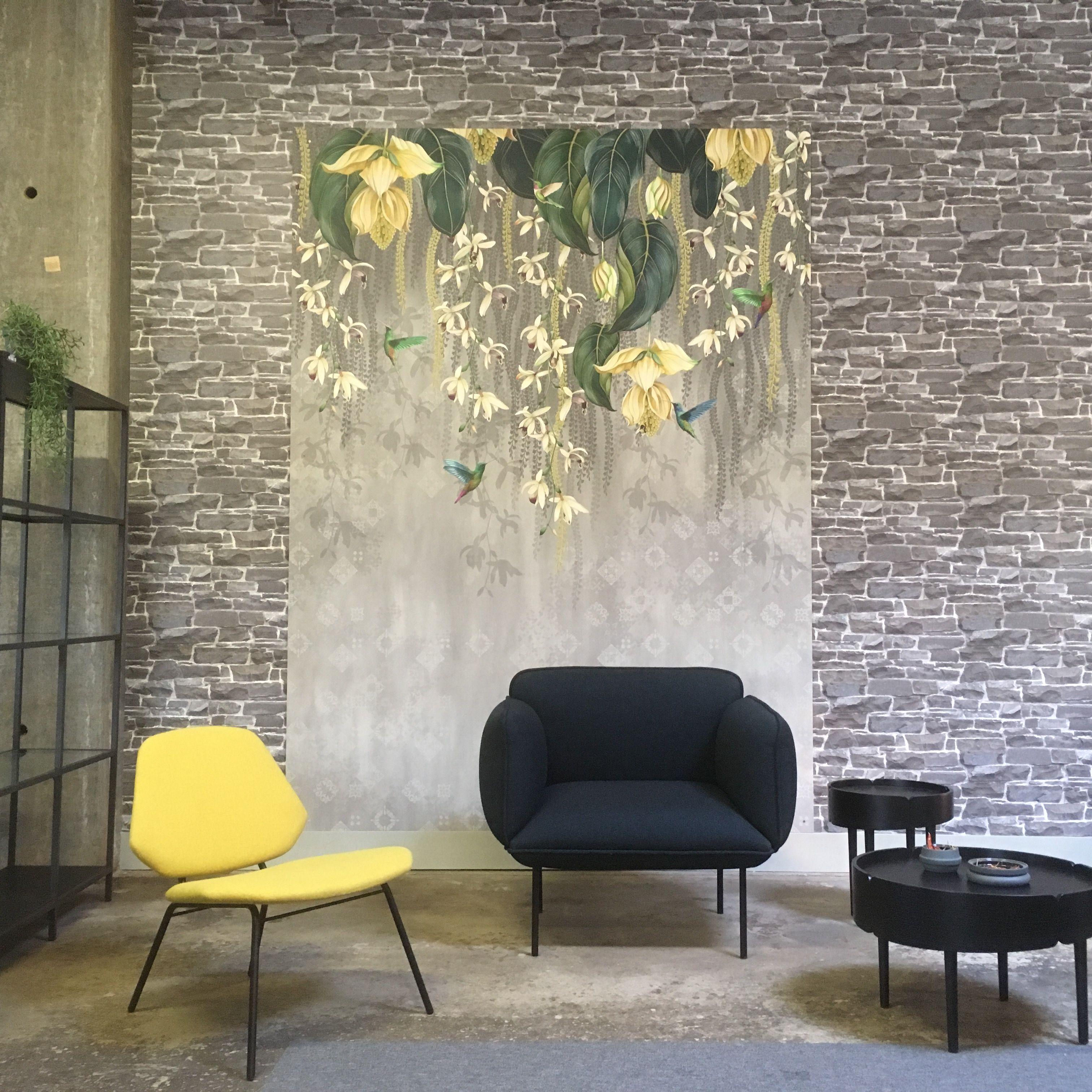 Wallpaper panel by Osborne & Little; Trailing orchid. Woud