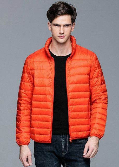 2d2e1f9c3e5 Autumn Winter man Duck Down Jacket Ultra Light Thin Plus Size Spring  Jackets Men Stand Collar Outerwear Coat
