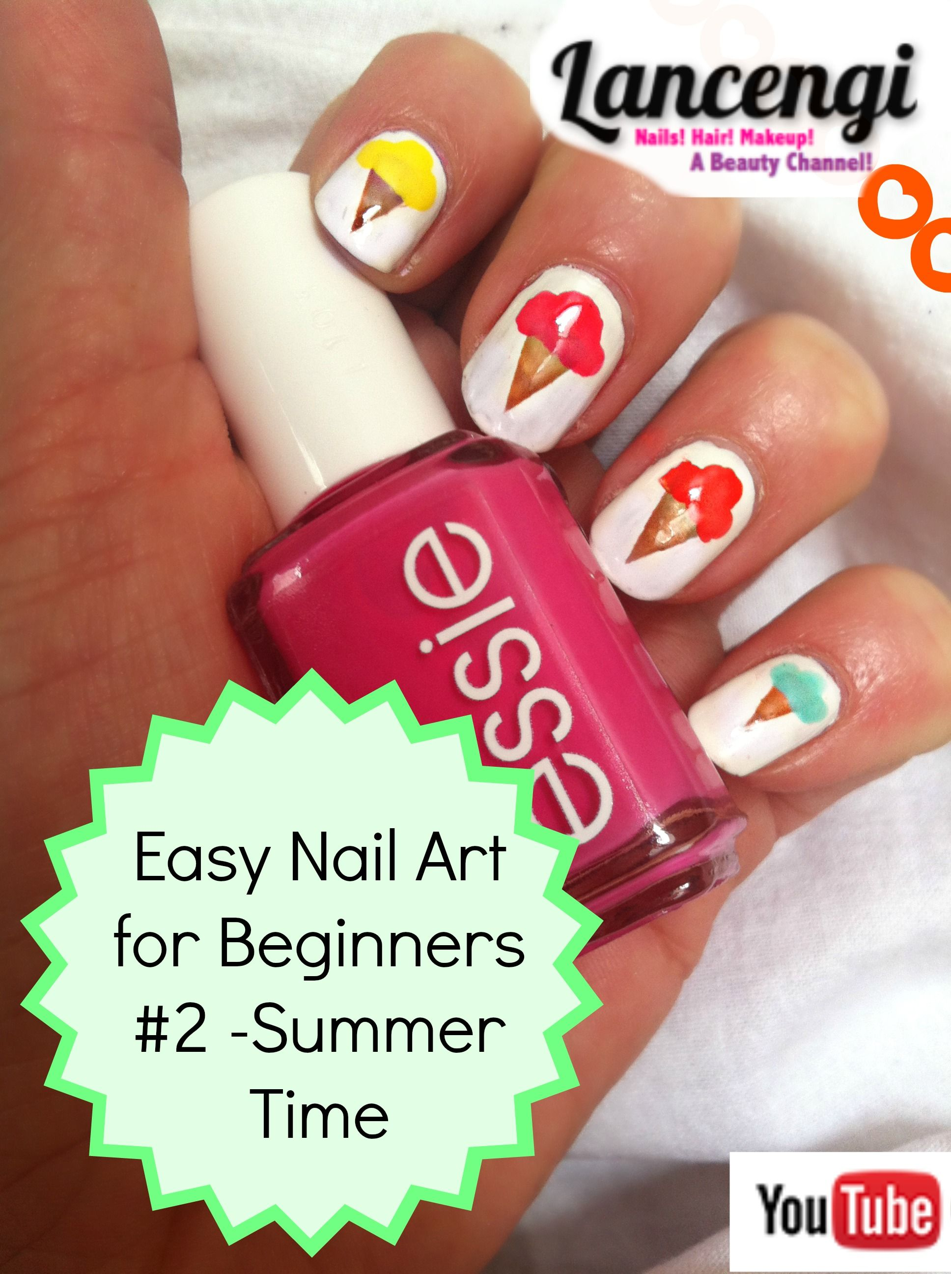 Easy Nail Art Tutorials for Beginners with Short Nails! Summer Nail ...