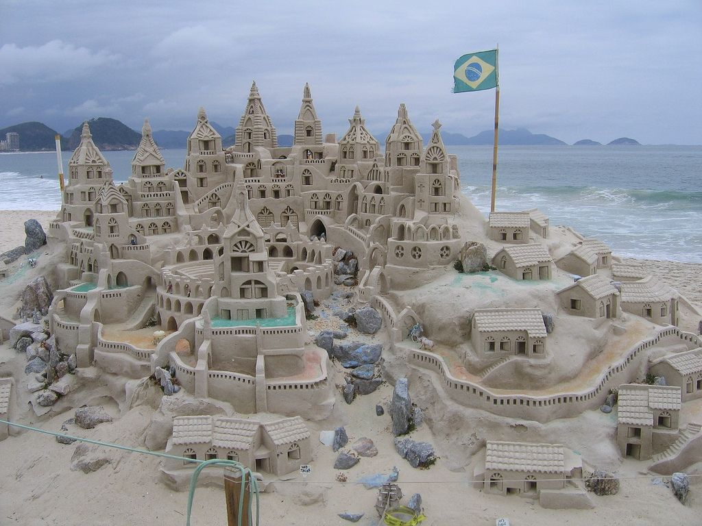 Giant Sand Castle Rio De Janeiro Brazil With Images Sand