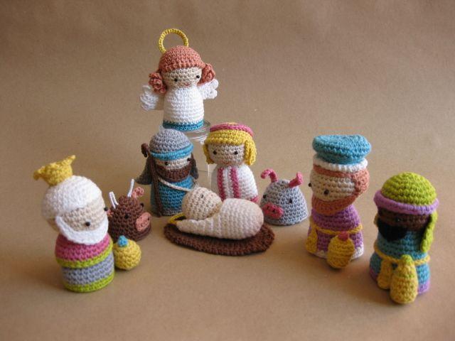 Amigurumi Navidad Nacimiento : Belén de amigurumi kit de dmc crochet christian themes