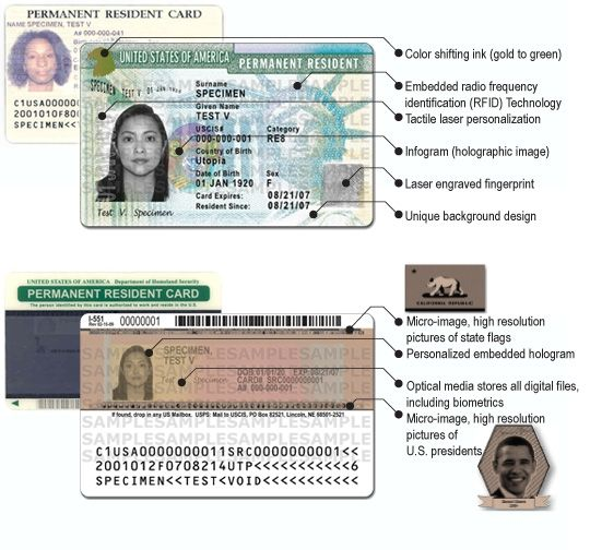 Border Crossing Card Taken From Uscis Gov Green Cards Cards Card Making Machine