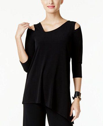 Alfani Cold-Shoulder Asymmetrical Top, Only at Macy's | macys.com