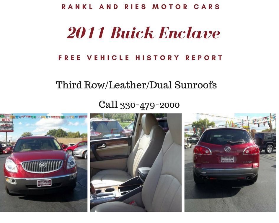 2011 Buick Enclave Leather Third Row Dual Sunroofs And So Many More Great Options This Will Not Last Long Visit Https T Buick Enclave Driving Test Buick