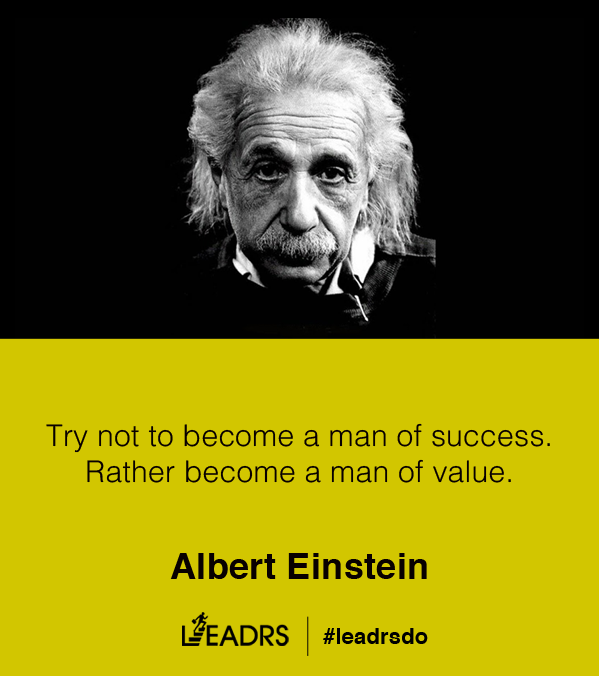 Try not to become a man of success. Rather become a man of value. - Albert Einstein #quotes #inspiration #startups